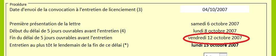 04 10 12 Entretien De Licenciement Attention Au Delai De 5 Jours