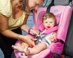 trajet domicile-travail en voiture de la garde d'enfant